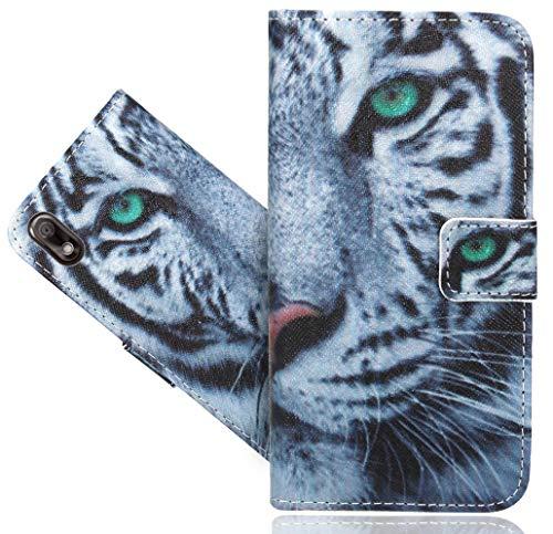 Wiko View 2 Go Handy Tasche, FoneExpert® Wallet Hülle Flip Cover Hüllen Etui Hülle Ledertasche Lederhülle Schutzhülle Für Wiko View 2 Go