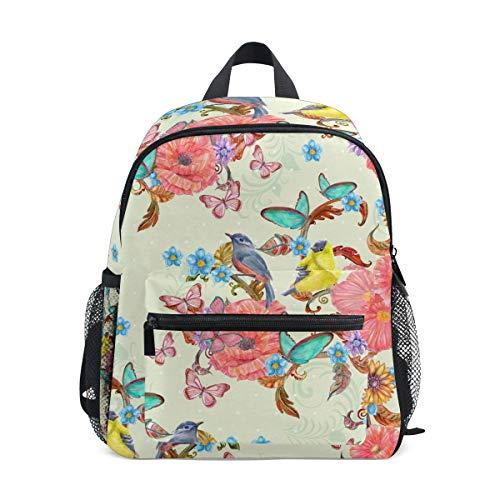 Cpyang, zaino per bambini con fiori, girasoli, uccelli, farfalle, scuola materna, zaino per bambini e bambine