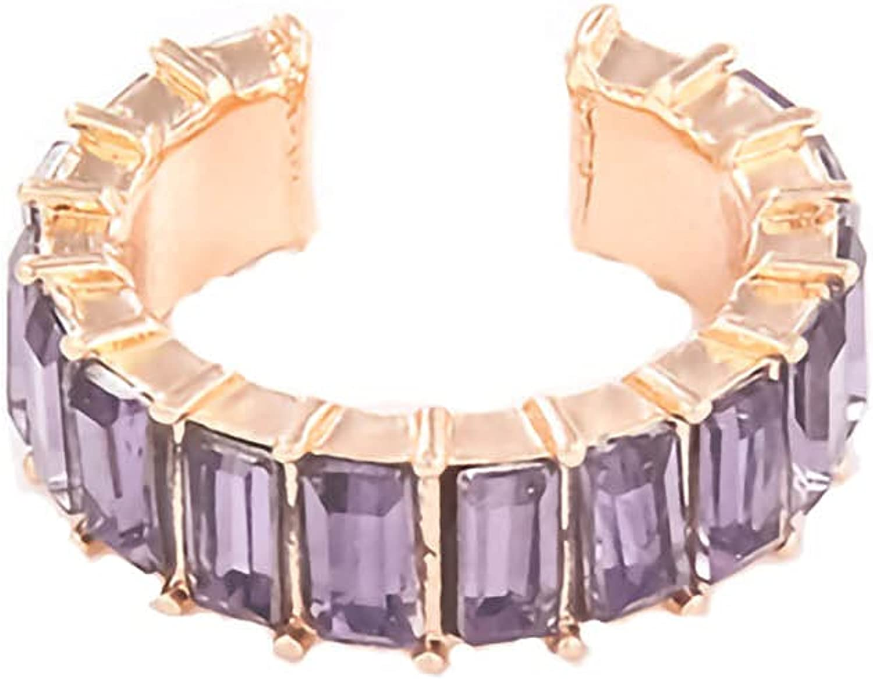 ASclothes Womens No Pierced Diamond C-shaped Ear Clip Back to School Jewelry