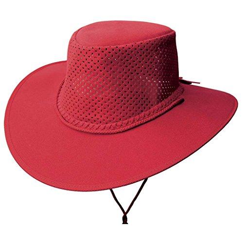 Chapeau d'été ultra léger avec bloc de chapeau perforé Kakadu Soaka - Rouge - Large