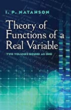 Theory of Functions of a Real Variable (Dover Books on Mathematics)