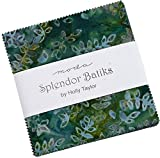 Splendor Batiks Charm Pack by Holly Taylor; 42-5 inch Precut Fabric Quilt Squares...