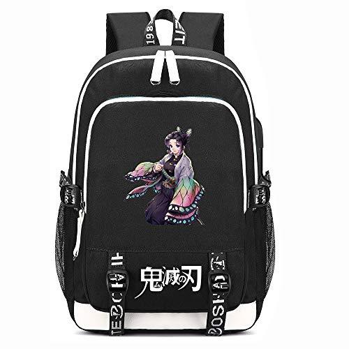 Demon Slayer Backpack 3-in-1 USB Charging School Bags Shoulders Package Student Casual Satchel