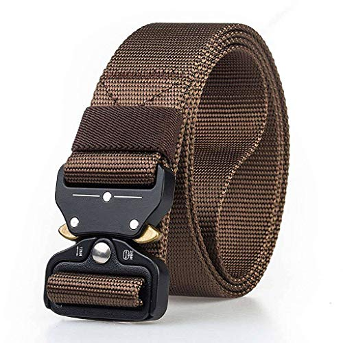 Mannen Belt, Heavy Duty Nylon Canvas heupgordels met Quick-release metalen gesp voor de jacht Training Army Running-C-125cm