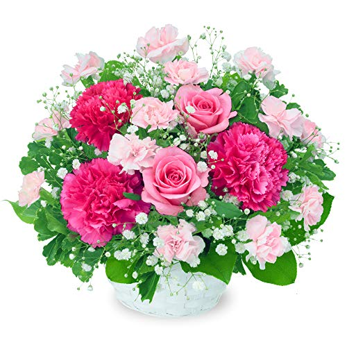 【誕生日フラワーギフト】ピンクバラのアレンジメント ya00-511964 花キューピット 花 誕生日 お祝い 記念日 プレゼント