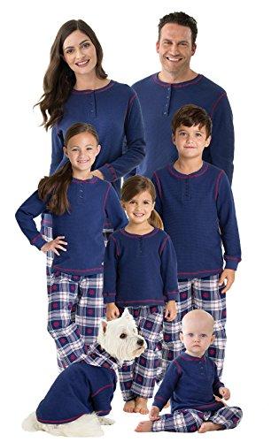 PajamaGram Family Christmas Pajamas Set, Snowfall Plaid, 2T