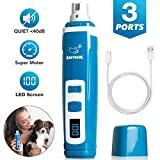 EASTBLUE Professional Dog Nail Grinder: 2-Speed Portable Electric Pet Nails Trimmers with Upgraded Quiet Motor for Small   Medium   Large Dog & Cat