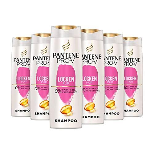 Pantene Pro-V Locken Pur Shampoo, 6er Pack (6 x 300 ml), Für Glänzende Und Elastische Locken, Haar Locken, Shampoo Locken, Haarpflege, Shampoo Damen