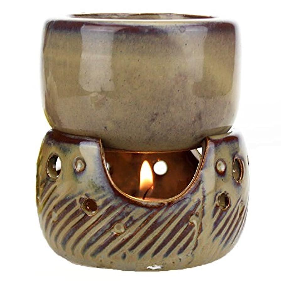 息苦しいインキュバス隠されたfunnytoday365タイスタイルレトロ分割Multipurpose Aroma Burner Oil Candle incensoryホテルSpaアロマセラピーランプ