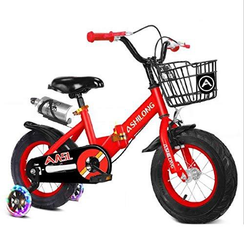 Dsrgwe Bicicletas Infantiles Bicicleta Niños, niño Vespa Bicicleta Plegable de Acero niños...