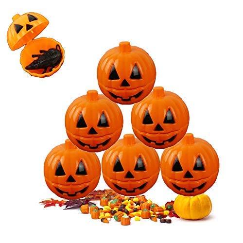 12Pcs Halloween Mini Portable Pumpkin Bucket,2.5 Inches Small Halloween Pumpkin Candy Buckets Halloween Children Trick Or Treat Bags Uncovered Surprise Tricky (12Pcs)