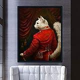 KWzEQ Animal Lindo Lienzo impresión Ciervo león Tigre Pared Arte Cartel y Oficina decoración del hogar80X120cmPintura sin Marco