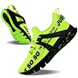 JSLEAP Mens Running Shoes Walking Non Slip Blade Type Sneakers