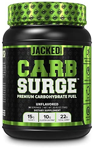 Carb Surge Carbohydrate Powder Clean Workout Fuel w Carb10 Pea Starch Cluster Dextrin for Enhanced product image
