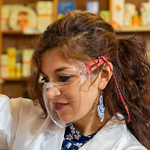 CE-konforme Klarsichtmaske AllegraMask - transparenter Mund- Nasen- Schutz - Kunststoffmaske mit Anti- Beschlag- Schutz und Anti- Kratz- Schutz - Community-Maske