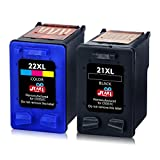 JIMIGO 21XL 22XL Cartouches d'encre Remanufacturés HP 21 22 Cartouches d'encre...