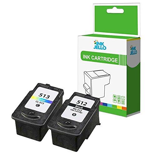 InkJello Wiederaufbereitete Tinten patrone für Canon Pixma iP2700 iP2702 MP230 MP235 MP240 MP250 MP252 MP260 MP270 MP272 MP280 MP282 MP330 MP480 MP490 MP492 MP495 MP499 (Schwarz, CMY, 2 Stück)