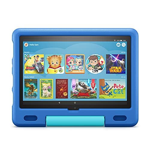 Amazon Kid-Proof Case for Fire HD 10 tablet (Only compatible with 11th generation tablet, 2021 release) – Sky Blue