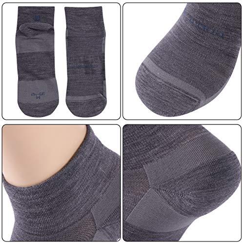 Running Socks, ZEALWOOD Meirno Wool Ultralight No Show Athletic Running Socks Cycling Socks for Men & Women Summer Dry Cool Socks