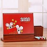 LIIYANN Oktober 2019-Dezember 2020 Desktop-Kalender 2020 Monat zu sehen akademischen Calendar.Home Planer Kalender Schuljahr Familienplaner (Farbe: C) Geschenk
