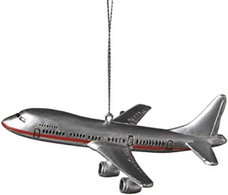1 X Commercial Airliner Resin Hanging Tree Ornament - Size 4.25 inch by Midwest-CBK