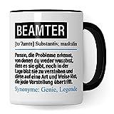 Pagma Druck Tasse Beamter lustig, Beamter Geschenk, Spruch öffentlicher Dienst Kaffeebecher Geschenkidee, Kaffeetasse Beruf Teetasse Beamtentum Becher