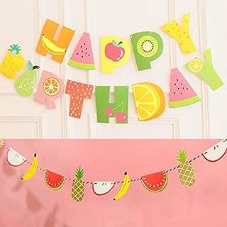 Yaaaaasss! Tutti Frutti Banner Kids 2nd Birthday Party Decoration Supplies