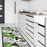 Alfombra Cocina y baño Lavable Antideslizante alfombras de Vinilo 50x240 Made in Italy para Decorar tu habitacion Design Italiano