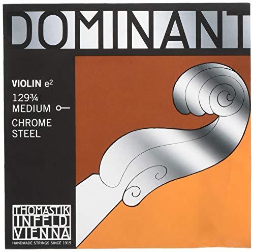 Dominant Strings 129 - Corda di MI per violino 3/4, in acciaio cromato