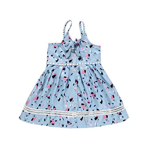 LianMengMVP Kleinkind Kind Baby Mädchen Blumendruck Sommerkleid Outfits Kleidung