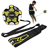 KABIBIN Volleyball/Soccer Kick/Throw Trainer, Football Solo Practice Training Aid for Juggling, Foot Control, Kicking Practice - Fits Ball Size 3, 4, and 5