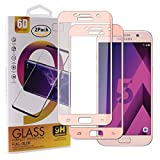 Guran [2 Paquete Protector de Pantalla para Samsung Galaxy A5 2017 A520F Smartphone Cobertura Completa Protección 9H Dureza Alta Definicion Vidrio Templado Película - Oro Rosa
