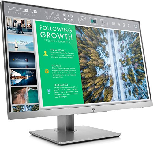 HP EliteDisplay E243 23.8-Inch Screen LED-Lit Monitor Silver (1FH47A8#ABA)
