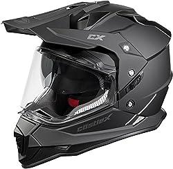 powerful Castle Mode Dual Sport SV Motorcycle Helmet (XLG, Matte Black)