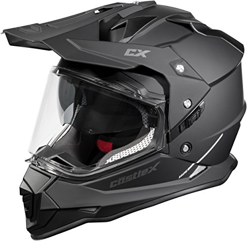 Castle Mode Dual-Sport SV Motorcycle Helmet (XLG, Matte Black)