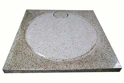 Design Duschwanne aus Naturstein, Duschtasse, Granit, 90*90cm, gelb gesprenkelt, G682