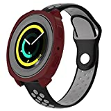 Samsung Gear Sport SM-R600 Smartwatch - Funda protectora de silicona para Samsung Gear Sport, resistente a los golpes y a los golpes, para reloj inteligente Samsung Gear Sport SM-R600 (Vino tinto)