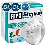 10 Mascarillas Protectoras FFP3 Homologadas con Certificación CE...
