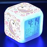 Sveglia Digitale, Allarme Sveglia per Bambini con 7 colori, Intelligente a...