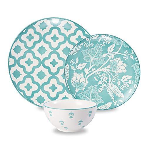 Wisenvoy Dinnerware Sets Plate Set Ceramic Dish Set Stoneware Dinnerware Set Dishes Set Plates and Bowls Sets Dish Sets