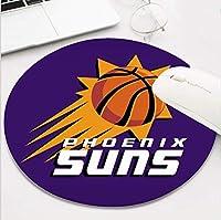 ラウンドバスケットボールチームマウスパッド、かわいいと面白いノンスリップベースライフニーズスポーツマウスパッド、フェニックスファンギフトマウスマット 25x30cm