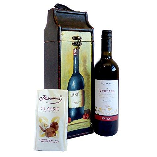 Versare vino rosso 750ml & cioccolatini classici Thorntons - il regalo ideale per il compleanno, l'anniversario e come grazie
