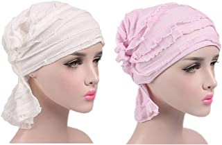 Ganves Women's Cotton Turban Headwear Chemo Beanie Cap for Cancer Patients Hair Loss