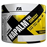 Fitness Authority Xtreme Nap Pre-Contest - 1 paquete x 224g - Beta Alanina, AAKG y Citrulina - Vitaminas con Coffeina y Taurina - Energía y Enfoque (Cherry Apple)