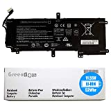 GreenTech VS03XL Replacement Battery for HP Envy 15-AS000, Envy 15-AS100, Envy 15T-AS000, Envy 15T-AS100 - GreenTech 11.55V 52Whr 3 Cell Battery 849313-850 849313-856 849047-541 HSTNN-UB6Y