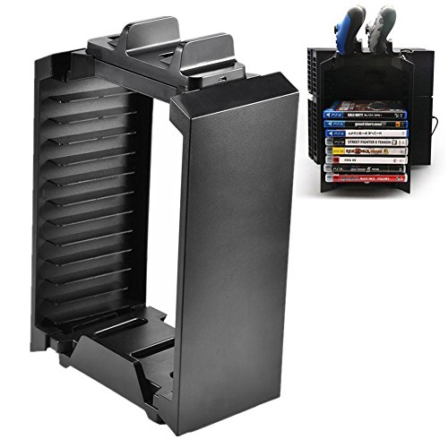 Game Storage Tower Storage Holder voor PS4, Vertical Console Stand voor PS4, Multifunctionele Vertical Stand Fan Game Hard Disk Holder voor Xbox One
