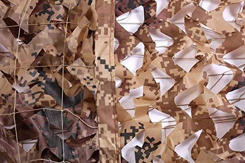 Rollo de Malla de Camuflaje Militar, Desert Woodland Camo Netting - (2 × 3 M) Summer Jungle Camouflage Netting Cover Outdoor Army Military Mesh Fabric Oxford Oxford Material Shade Netting Tamaño Múlti