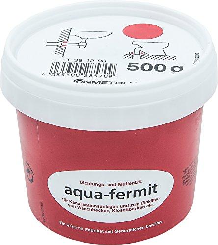 Cornat Aqua-Fermit Dichtungs-und Muffenkitt, besonders geeignet zum Einkitten von Wasch/Klosettbecken im Anschlussbereich an die Kanalisation, 500 g, 1 Stück, T381296