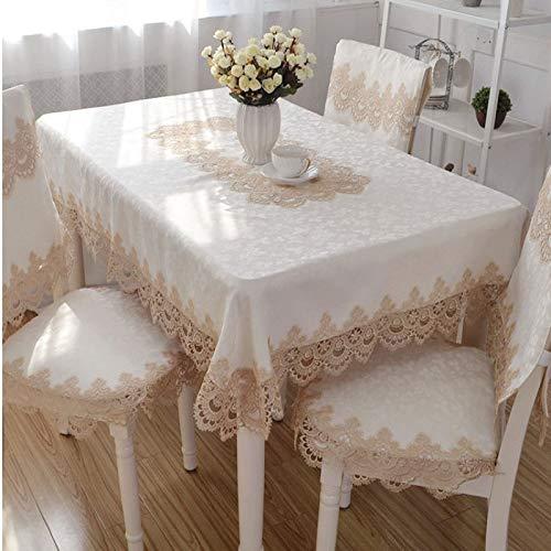 sans_marque Paño de mesa, paño de mesa de color sólido paño de mesa, a prueba de polvo y a prueba de encogimiento, utilizado para la cocina picnic mesa decoration83CM círculo