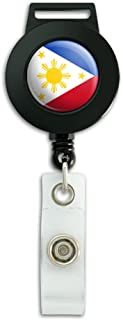 The Philippines National Country Flag Lanyard Retractable Reel Badge ID Card Holder